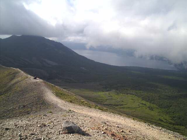 風不死岳と支笏湖